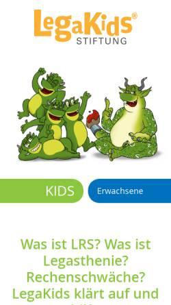Vorschau der mobilen Webseite www.legakids.net, Legakids