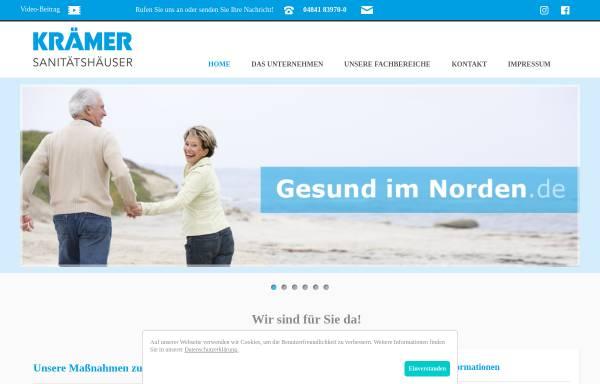 Vorschau von www.gesundimnorden.de, Sanitätshaus Krämer