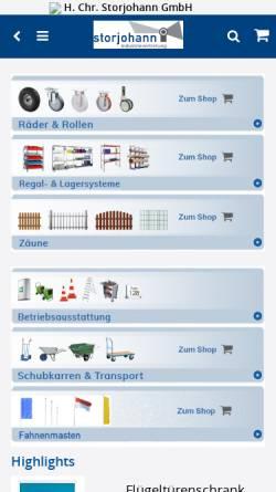 Vorschau der mobilen Webseite storjohann-kiel.de, H. Chr. Storjohann GmbH