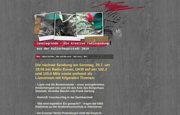 Vorschau von www.canalegrande-ruhrgebiet.de, Canalegrande Ruhrgebiet