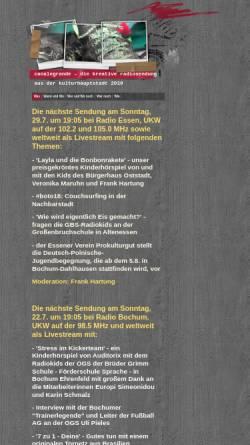 Vorschau der mobilen Webseite www.canalegrande-ruhrgebiet.de, Canalegrande Ruhrgebiet