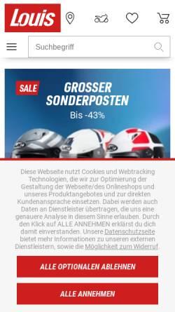 Vorschau der mobilen Webseite www.louis.de, Detlev Louis Motorradvertriebs GmbH