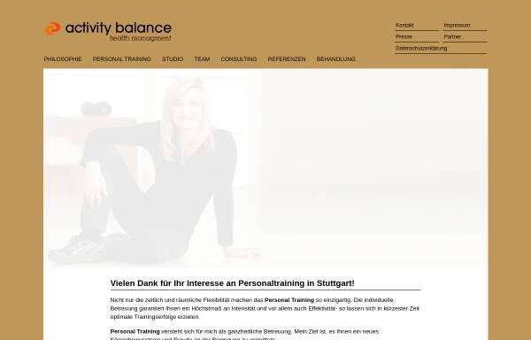 Vorschau von www.activity-balance.de, Activity Balance