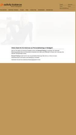 Vorschau der mobilen Webseite www.activity-balance.de, Activity Balance