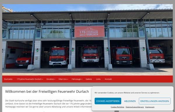 Vorschau von www.ff-durlach.de, Freiwillige Feuerwehr Karlsruhe Durlach