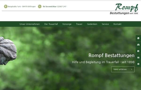 Vorschau von www.rompf-bestattungen.de, Rompf Sargfabrik-Bestattungen GmbH