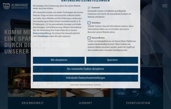 Vorschau von klimahaus-bremerhaven.de, Klimahaus Bremerhaven 8° Ost