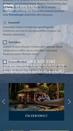 Vorschau der mobilen Webseite klimahaus-bremerhaven.de, Klimahaus Bremerhaven 8° Ost