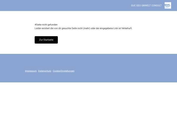 Vorschau von www.guc-seceg.com, G.U.C. GEO UMWELT Consult GmbH