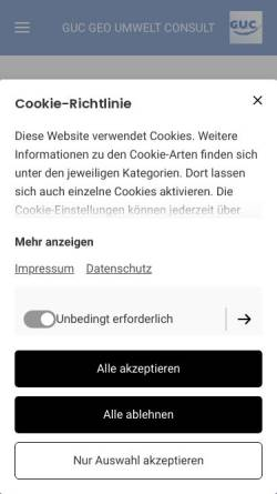Vorschau der mobilen Webseite www.guc-seceg.com, G.U.C. GEO UMWELT Consult GmbH