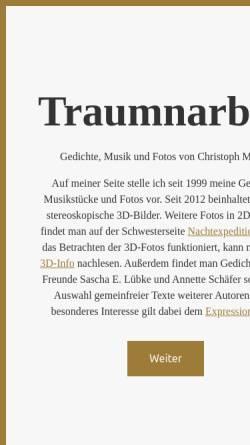 Vorschau der mobilen Webseite www.traumnarben.de, Müller, Christoph