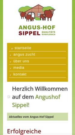 Vorschau der mobilen Webseite www.angushof-sippel.de, Angushof Sippel