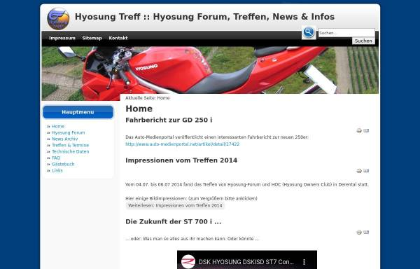 Vorschau von www.hyosung-treff.de, Hyosung Treff