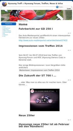Vorschau der mobilen Webseite www.hyosung-treff.de, Hyosung Treff