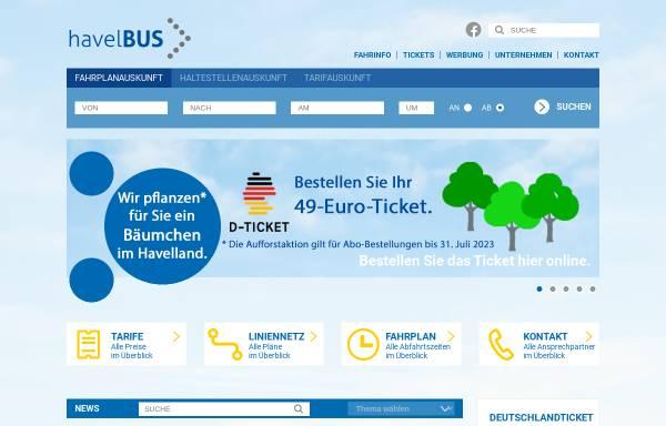 Vorschau von www.havelbus.de, Havelbus Verkehrsgesellschaft mbH