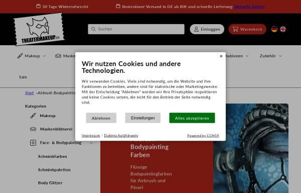 Vorschau von www.airbrushmakeup.net, Airbrushmakeup.net