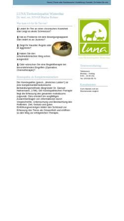Vorschau der mobilen Webseite www.luna-tierhomoeopathie-winterthur.ch, Luna Tierhomoeopathie Winterthur