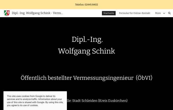 Vorschau von www.vermessung-schink.de, Schink, Wolfgang