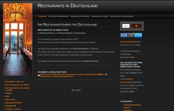 Vorschau von www.gourmet-lounge.de, Gourmet Lounge
