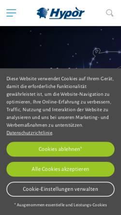 Vorschau der mobilen Webseite www.hypor.com, Hypor Deutschland GmbH
