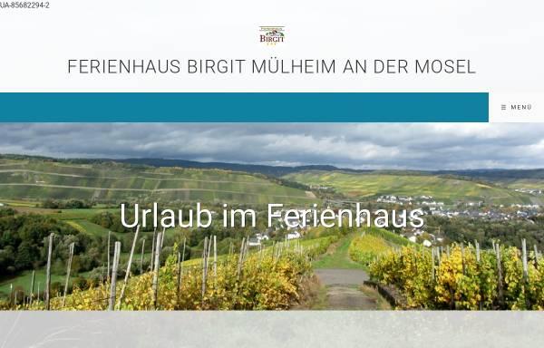 Vorschau von www.haus-birgit.com, Urlaubsdomizil Ferienhaus Birgit in Mülheim an der Mosel