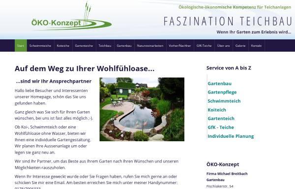 Vorschau von www.oeko-konzept.de, Teichbau Öko-Konzept GmbH