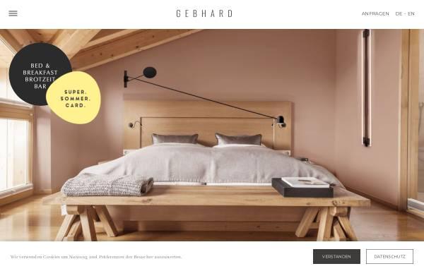 Vorschau von www.hotel-gebhard.at, Alpin Life Hotel Gebhard - 4 Sterne Hotel in Fiss, Tirol