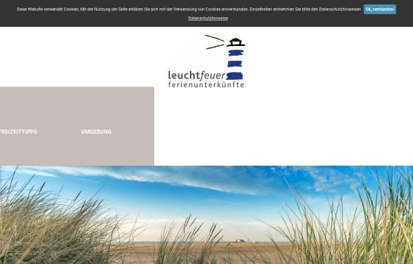 Vorschau von www.sanktpeter-ording.de, leuchtfeuer ferienunterkünfte