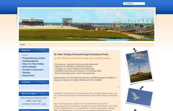 Vorschau von www.peter-nordsee-pur.de, Christine Peter, Vermietung