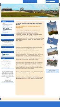 Vorschau der mobilen Webseite www.peter-nordsee-pur.de, Christine Peter, Vermietung