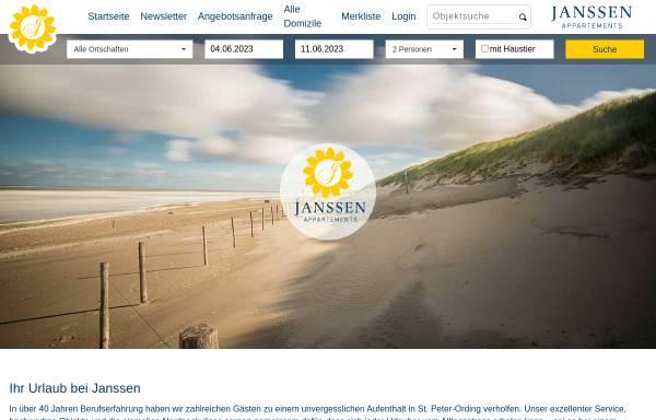Vorschau von www.gegen-den-wind.de, Janssen-Appartements