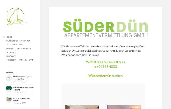 Vorschau von www.suederduen.de,
