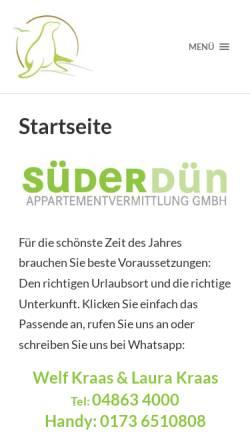 Vorschau der mobilen Webseite www.suederduen.de,