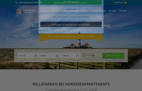 Vorschau von www.nordsee-ferien.com, Vermietungsservice Oliver Viedt
