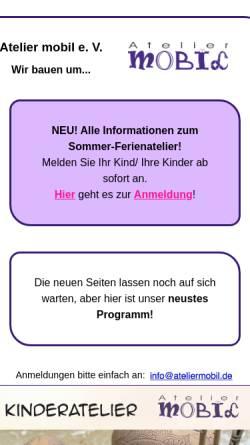 Vorschau der mobilen Webseite www.ateliermobil.de, Ateliermobil