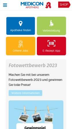 Vorschau der mobilen Webseite www.medicon-apotheke.de, Brl Holding GmbH