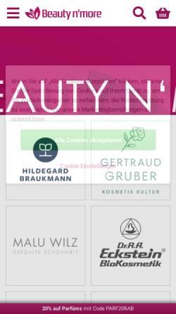 Vorschau der mobilen Webseite www.beautynmore.de, Steinke & Jähnigen GbR