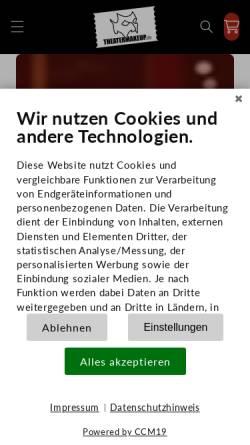 Vorschau der mobilen Webseite www.theatermakeup.de, Theatermakeup.de, Peter Richter