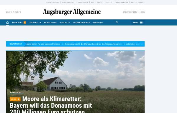 Vorschau von www.augsburger-allgemeine.de, Augsburger Allgemeine Zeitung