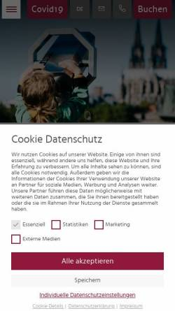 Vorschau der mobilen Webseite www.hotel-uhu.de, Hotel UHU Klaus G. Kuhn
