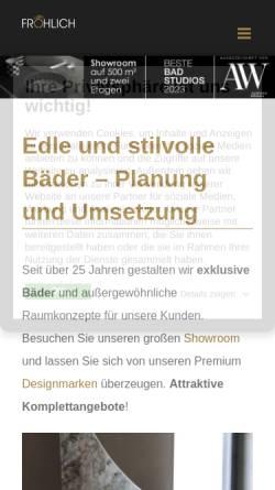 Vorschau der mobilen Webseite www.axel-froehlich.com, Axel Fröhlich GmbH