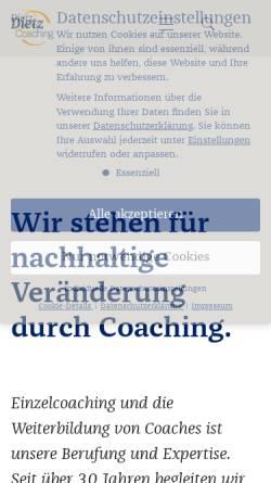 Vorschau der mobilen Webseite www.dietz-training.de, Dietz Training und Partner