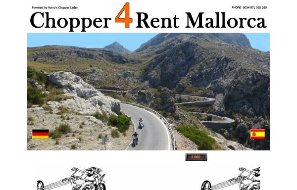 Vorschau von www.chopper4rent-mallorca.com, Choppers4Rent Mallorca