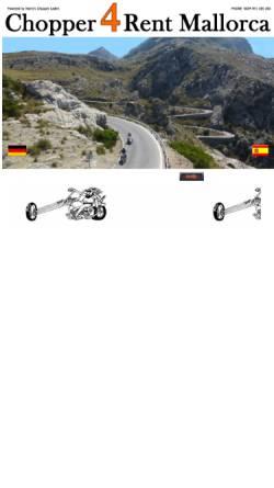 Vorschau der mobilen Webseite www.chopper4rent-mallorca.com, Choppers4Rent Mallorca