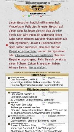Vorschau der mobilen Webseite www.viragoforum.de, Viragoforum