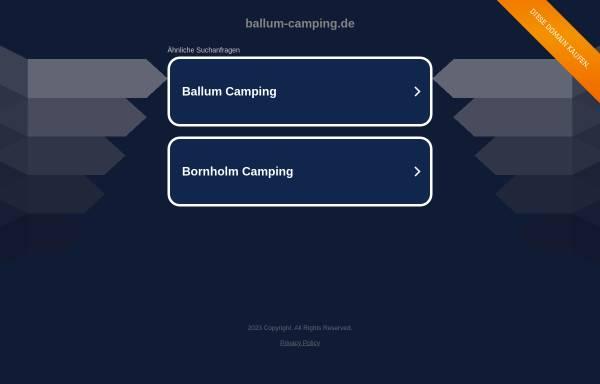 Vorschau von www.ballum-camping.de, Ballum Camping