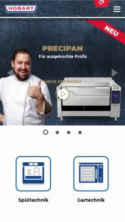 Vorschau der mobilen Webseite www.hobart.de, Hobart GmbH