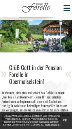 Vorschau der mobilen Webseite www.ferienpension-forelle.de, Pension Forelle