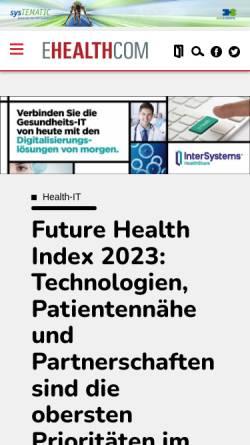 Vorschau der mobilen Webseite www.e-health-com.eu, E-Health-Care