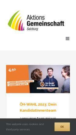 Vorschau der mobilen Webseite www.ag-sbg.at, Aktionsgemeinschaft Salzburg